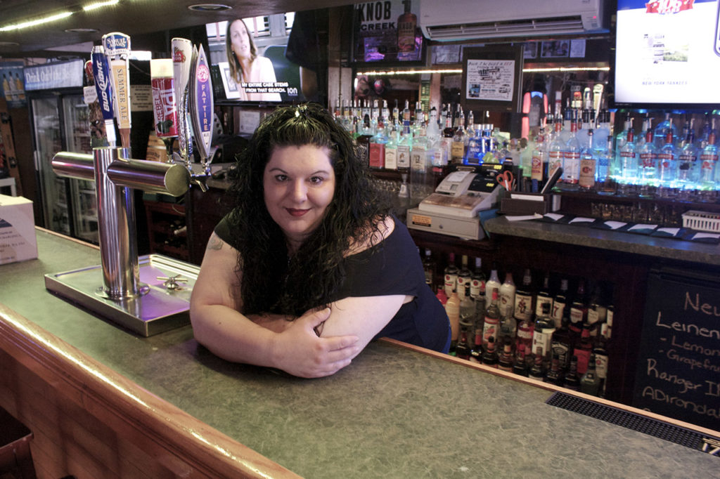 Danielle Freer, owner of Hot Shotz Pub & Grill in Kerhonkson, New York and proud member of the Hudson Valley Current.